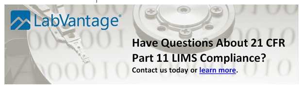 Contact LabVantage to Discuss 21CFR Compliance