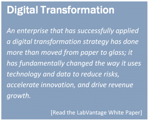 An enterprise that has successfully applied a digital transformation strategy has done more than moved from paper to glass; it has fundamentally changed the way it uses technology and data to reduce risks, accelerate innovation, and drive revenue growth.