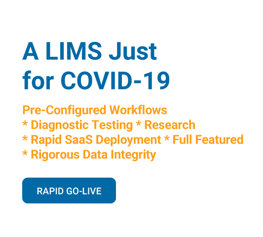 A LIMS Just for COVID-19