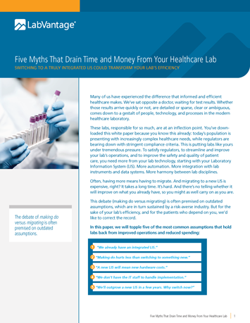 Five Myths That Drain Time and Money From Your Healthcare Lab