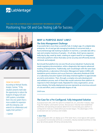 Positioning Your Oil and Gas Testing Lab for Success