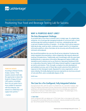 Positioning Your Food and Beverage Testing Lab for Success