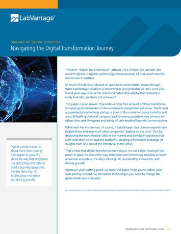 Navigating the Digital Transformation Journey